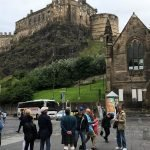 Tourists in Grassmarket, Edinburgh